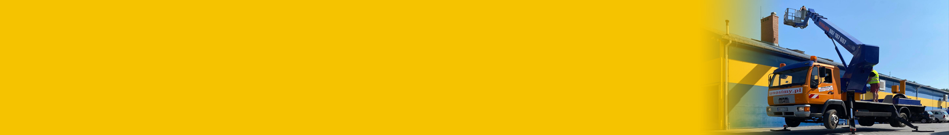 baner - podnośnik koszowy